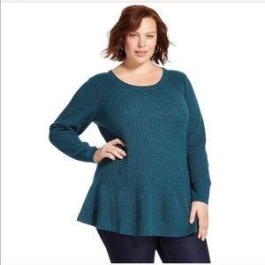 Knox Rose metallic peplum sweater
